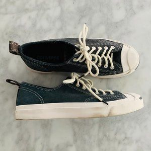 Converse Jack Purcell Sneaker Blue Suede 9 Leather
